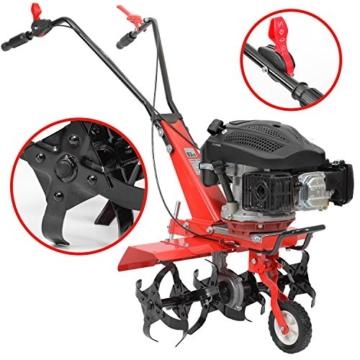 HECHT Benzin-Gartenfräse 746 Motor-Hacke Boden-Fräse Kultivator (36 oder 60cm Arbeitsbreite, 6 Kreisel mit je 4 Zinken) -