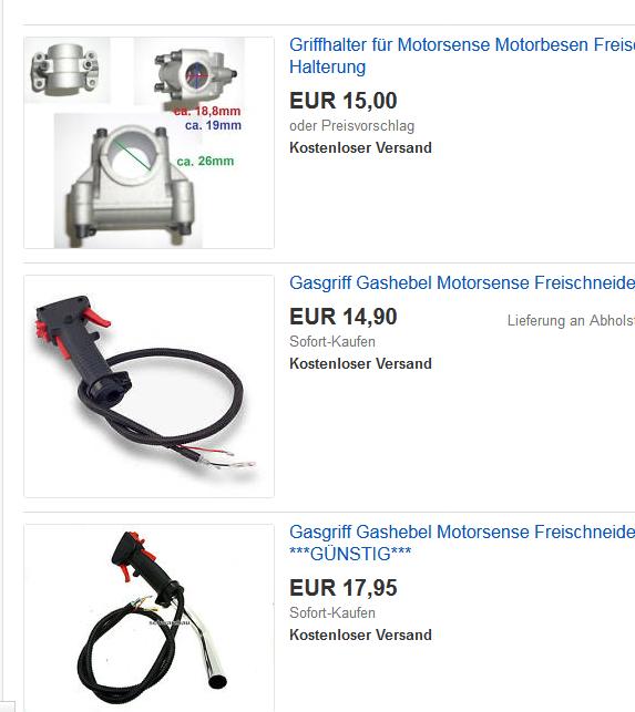 Griffe Motorsense Ebay